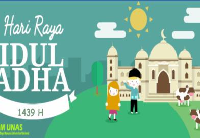 Selamat Hari Raya Idul Adha 1439 H / 2018 M